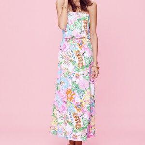 Lilly Pulitzer x Target Nosie Posey Maxi Dress M